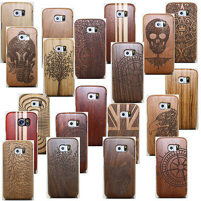 AU16.23 • Buy Natural Wood Bamboo Carved Case Combo Cover For Samsung Galaxy S9 / S8 Plus/S7