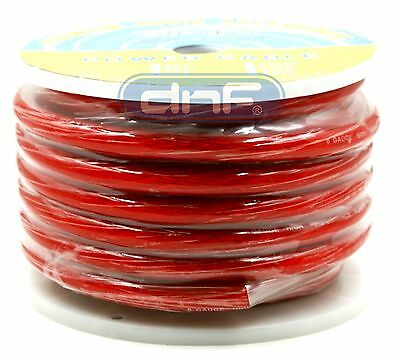 AU62.91 • Buy 0 Gauge 50 Feet See Through Red Amplifier Power/ Ground Cable