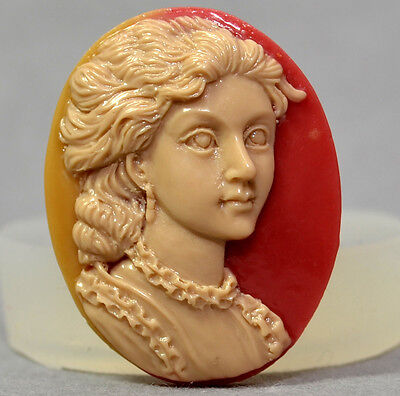 Cameo Lady Victorian Silicone Mould Sugarcraft Resin Fimo Polymer Clay Mold • 3.99£