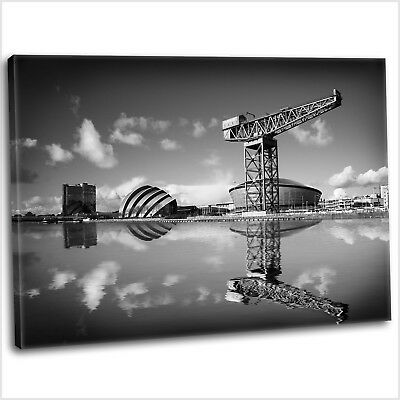 £29.99 • Buy Glasgow Canvas Print Clyde Reflections Framed Canvas Wall Art Picture