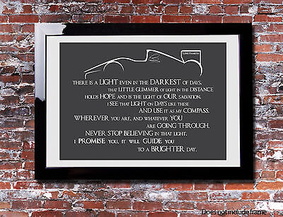 £6.99 • Buy Lewis Hamilton Light Quote Picture Print Gift Canvas Wall Word Art Typography F1