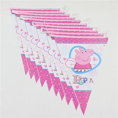 $4.99 • Buy 2.5 M Paper Birthday Banner Flag Decoration Party Supplies.