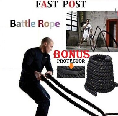 AU78 • Buy 9M 15M Heavy Home Gym Battle Rope Battling Strength Training Exercise Fitness