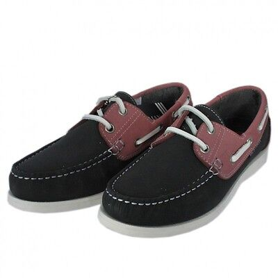 Womens Yachtsman Navy Pink Deck Shoes • 33£