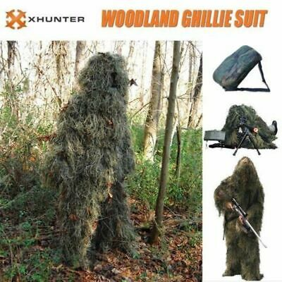 AU46.45 • Buy Xhunter Ghillie Suit 5Pcs Woodland Camouflage Hunting Archery Sniper Clothing