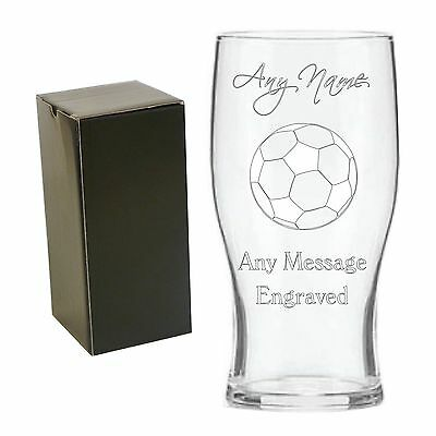 £9.50 • Buy Personalised Engraved Tulip Pint Glass Football Coach End Of Season Gift Award