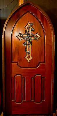 $35000 • Buy Gothic Arch Hand-Carved Mahogany Door
