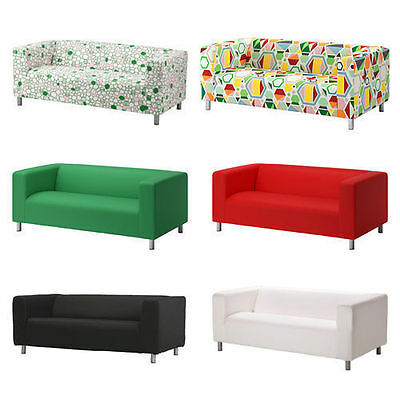 Two Seater Ikea KLIPPAN Sofa Slipcover Replacement Cover,8 Colours,Cover ONLY • 79.99£
