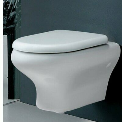 RAK Compact Wall Hung Toilet WC 520mm Projection - Soft Close Seat • 158.95£