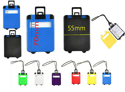 £1.49 • Buy Luggage Tags Suitcase Bag Name Address Label Id Travel Holiday Hand Bag Tag New