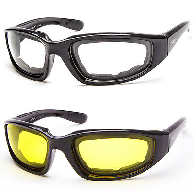 0e4739d2a4 Padded Wind Resistant Sunglasses Extreme Sports Motorcycle Riding Glasses  Clear • 8.99