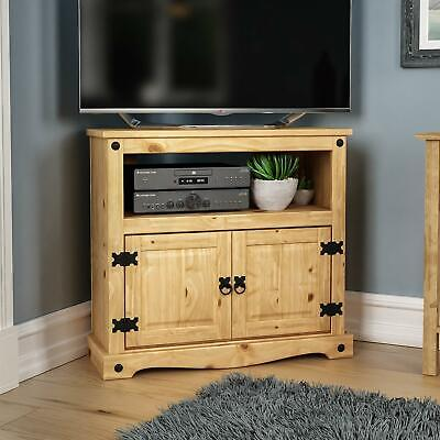 £62.84 • Buy Corona Corner TV Unit Mexican Solid Waxed Pine Entertainment Cabinet Furniture
