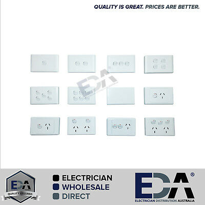 AU13.99 • Buy Electrical Socket Switch Power Point Outlet Plate Gang Gpo Single Double 2000