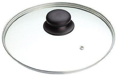 Replacement Vented Frying Fry Pan Saucepan Glass Lid Cover - Various Sizes 22-32 • 5.99£