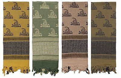 $12.99 • Buy Gadsden Snake Military Shemagh 42 X 42 Tactical Desert Scarf 100% Cotton!