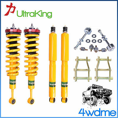 AU900 • Buy For Toyota Hilux KUN26 4WD HD Shocks KING Coil Springs 3  Front 2  Rear Lift Kit