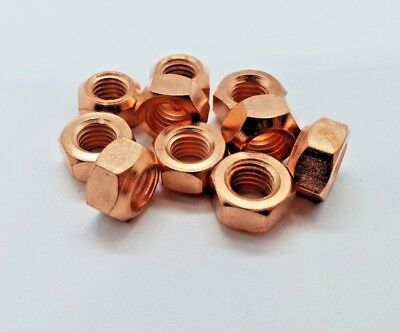 10 X M8 Copper Flashed Exhaust Manifold Nut 8mm Nuts High Temp • 2.55£