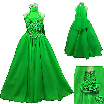 £241.40 • Buy New Green Pageant Wedding Recital Formal Party Dress Teen Girl Size:7 8 10 12 14