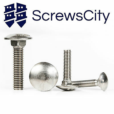 M5 M6 M8 Stainless Steel A2 Carriage Bolts / Cup Square Coach Screws Din 603 • 1.71£