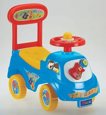 £19.95 • Buy Push Along Sit On Ride On Car Quality Plastic Toy Children Music Theme Blue