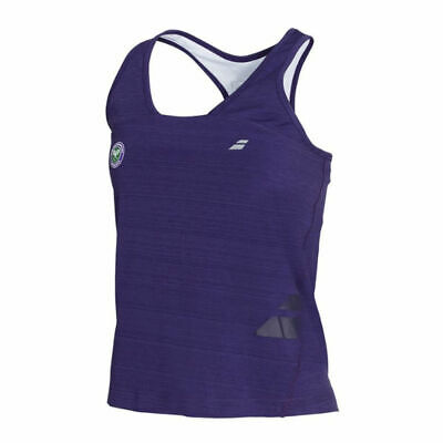 Babolat Girl's Wimbledon Performance Racerback Tank Top – Purple • 17.50£
