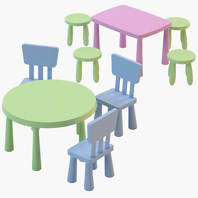 Ikea Mammut Children's Plastic Chairs,Tables & Stools In/outdoor,Many Colours • 18.50£