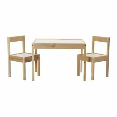 IKEA LATT Children's Small Table And 2 Chairs Wooden Pine Kids Furniture Set New • 37.99£