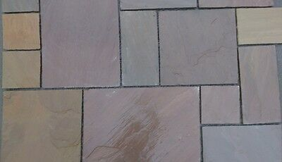 Raj Green Natural Indian Stone - Sandstone Paving Patio / Driveway Flags • 15.99£