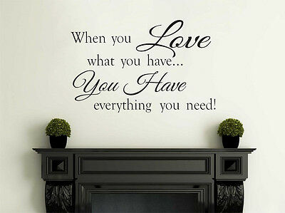 £16.95 • Buy Family Wall Quote  When You Love..  Wall Art Sticker, Vinyl, Decal, Transfer.