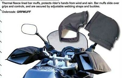 Motorcycle Scooter Quad Bike Handlebar Hand Muffs Over Gloves Winter Warmers • 24.99£