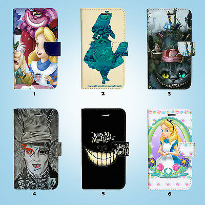 AU12.99 • Buy Disney Alice Wallet Case Cover IPhone 12 11 Pro Max Mini XS XR X SE 051