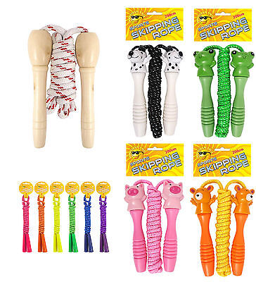 £4.50 • Buy Traditional Childrens Skipping Rope, Wooden, Cute Animal Or Neon Handle 200cm
