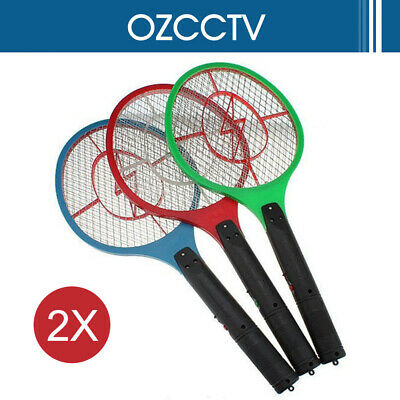 AU15.45 • Buy 2X Electronic Fly Swatter Mosquito Bug Insect Kill Zapper Racket RANDOM COLOR