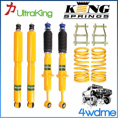 AU560 • Buy Nissan Navara D40 Front & Rear Shocks + KING Coil Springs + Shackles 2  Lift Kit