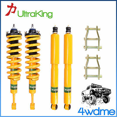 AU700 • Buy Nissan Navara D40 Front Rear Shocks + KING Coil Springs + Shackles 2  Lift Kit