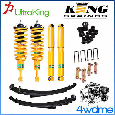 AU990 • Buy Nissan Navara D40 Front Rear Shock + KING Coil Spring + Leaf Spring 2  Lift Kit