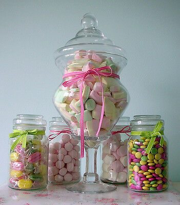 Glass Apothecary Candy Jar Buffet Table Centerpiece • 19.38£