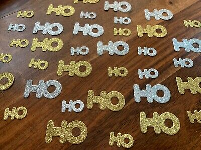 50 X Gold Silver Non Shed Glitter Table Top Confetti Party HO HO Xmas Sprinkles • 2.49£