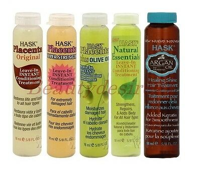 Hask Placenta Leave-In Conditioning Hair Treatments 18 Ml • 3.99£