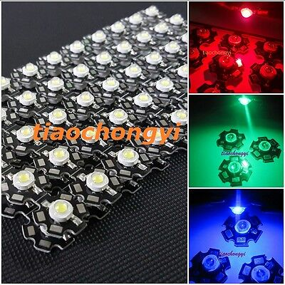 AU1.50 • Buy Hot 10-100 Pcs 1W 3W High Power Red,green,Blue,Royal Blue LED With 20mm Star PCB