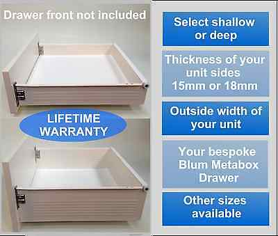 Replacement Kitchen Drawers Complete Drawer Box Kit, ALL SIZES ** FROM £26.25 ** • 26.25£