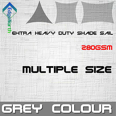 AU185 • Buy Outdoor Sun Shade Sail - Grey Triangle Square Rectangle Canopy 280gsm