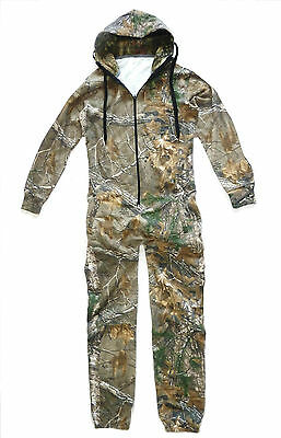 GENTS OAK TREE CAMO JUMP SUIT Cotton Mens Hunters Warm Thermal All In One Onesie • 24.90£