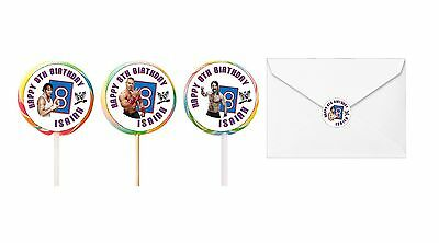 60 WWE World Wrestling Birthday Stickers Lollipop Labels Party Favors 1.5 In ANY • 3.21£