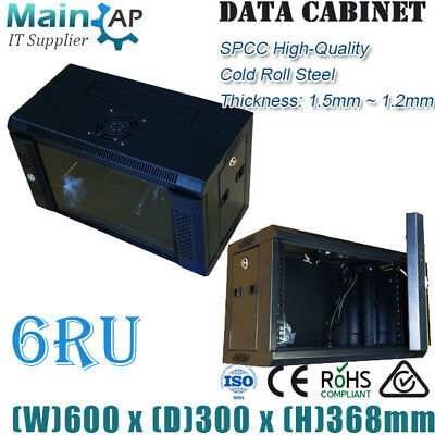 AU183 • Buy Industral Standard 6RU 300mm 19  Wall Mount Networking Server Cabinet With 1xFan