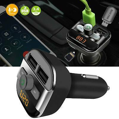View Details New Bluetooth Car Kit Wireless FM Transmitter Dual USB Charger Audio MP3 Player • 9.69£