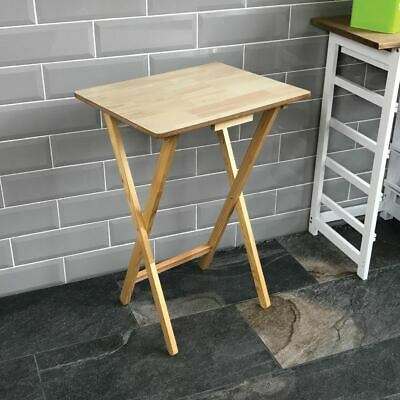 £18.95 • Buy Folding Snack Table Wooden Natural Desk Foldable Portable Dining Laptop Coffee