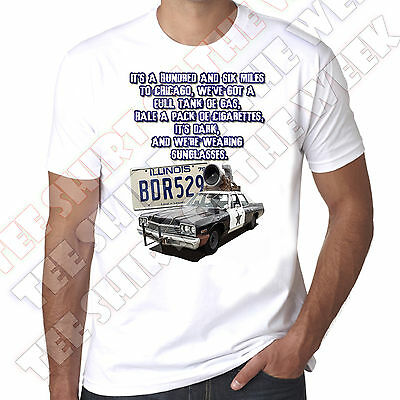 £9.99 • Buy Its 106 Miles To Chicago Blues Brothers 80s Mens 100% Cotton White T-shirt