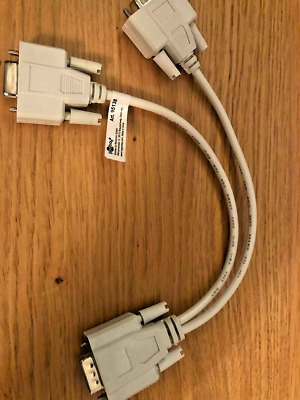 £2.74 • Buy 1 PC To 2 Way VGA SVGA Monitor Y Splitter Cable Lead 2 Way 15Pin Male 2 Female