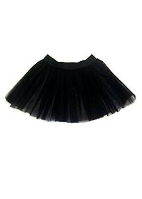 £4.25 • Buy Girls Black 2 Layers Witch Gothic Tutu Skirt Night Out Halloween Fancy Dress